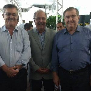 Evento de posse da diretoria FAEMG/SENAR: Breno Mesquita +diretor), Ricardo Laughton (vice- presidente) e Roberto Simões (presidente)