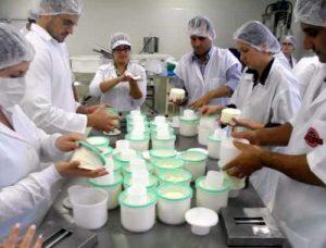 """Alunos aprendem a fabricação de queijo. Fonte <a href=""""http://arede.info/ponta-grossa/147989/curso-de-fabricacao-de-queijos-tem-inscricoes-abertas"""">aredeinfo</a>"""
