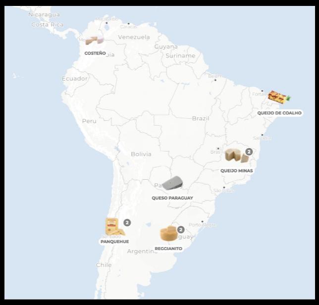 Queijos América do Sul