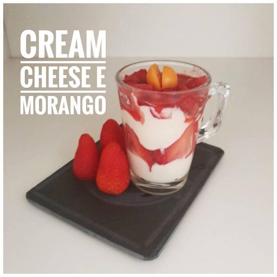 Creme cheese com morango